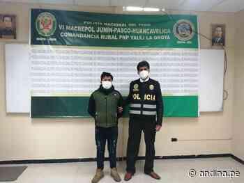 Junín: Policía captura en La Oroya a sujeto implicado en presunto feminicidio - Agencia Andina