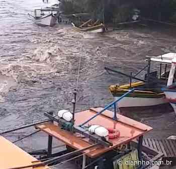 Chuvarada deixa estragos nos barcos de pescadores artesanais de Itajuba - diarinho.com.br