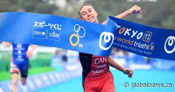 Oak Bluff Triathlete Tyler Mislawhuck makes history at Olympic test event - Globalnews.ca