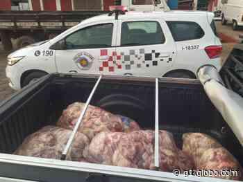 Polícia Militar recupera em Pirapozinho carga de retalhos de carne que havia sido furtada - G1