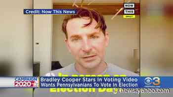 Bradley Cooper Encouraging People In Pennsylvania To Vote - Yahoo News
