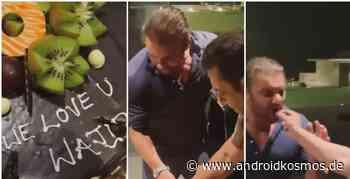 Salman Khan, Bruder Sohail feiert gemeinsam mit dem Musikkomponisten Sajid den späten Geburtstag von Wajid Khan, siehe - AndroidKosmos.de