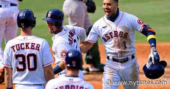 The Astros, Suddenly Dominant at the Plate, Are Back in the A.L.C.S.