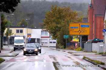 Fahrbahn wird abgefräst - Westfalen-Blatt