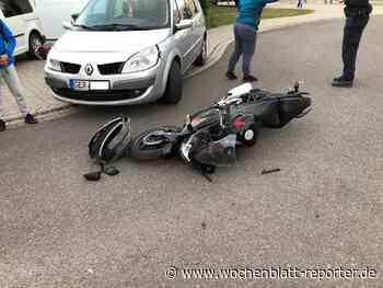 Unfall in Rheinzabern: Pkw übersieht Leichtkraftrad - Jockgrim - Wochenblatt-Reporter