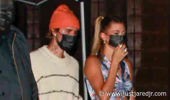 Hailey Bieber Steps Out with Justin After Opening Up About Their Skincare Journeys