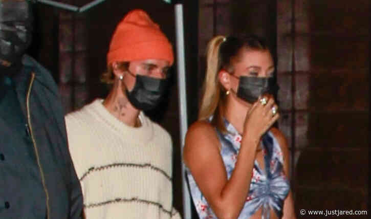 Justin & Hailey Bieber Step Out for Thursday Night Dinner at Craig's!