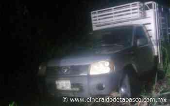 Hallan abandonada camioneta robada en Huimanguillo - El Heraldo de Tabasco