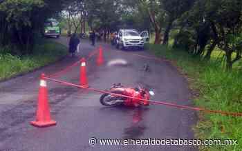 Muere al derrapar en carretera de Huimanguillo - El Heraldo de Tabasco