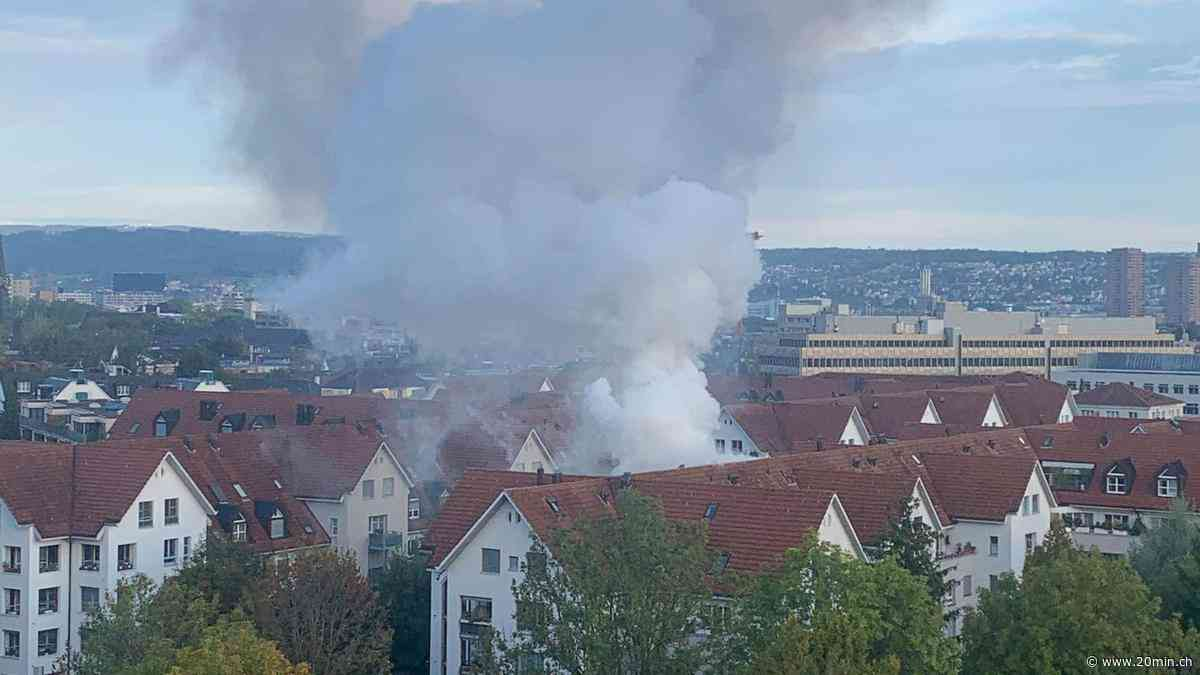 Zürich Binz: Dichter schwarzer Rauch steigt aus Wohnung – zwei Personen im Spital - 20 Minuten