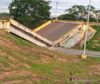 +VIDEO   ¡Se vino abajo! Vehículo de carga derrumbó el Puente de Cantaura - evtvmiami.com