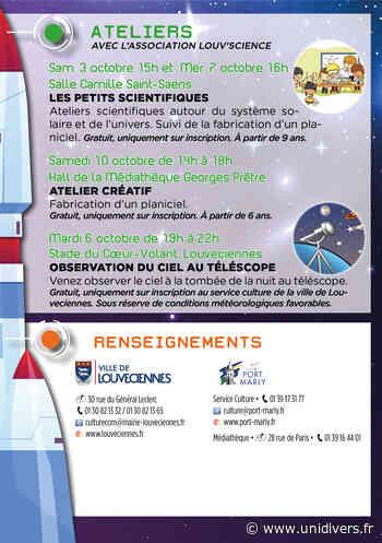 Un atelier scientifique pour vivre dans les étoiles Médiathèque George Pretre samedi 3 octobre 2020 - Unidivers