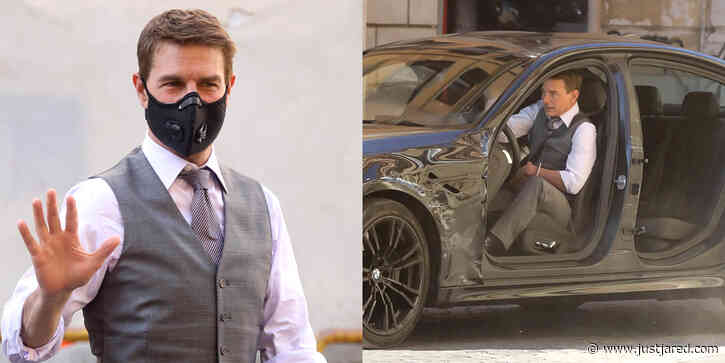 Tom Cruise Continues to Film Car Chase Scene in Rome & These Photos Are Action-Packed!