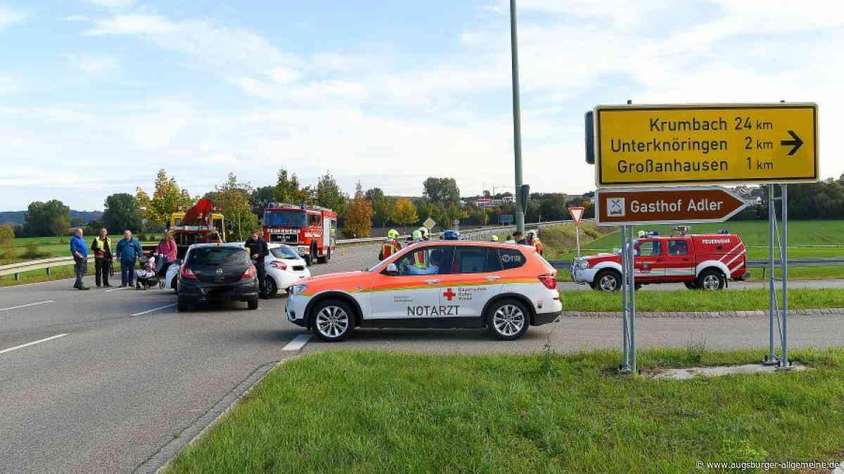 Zwei Verletzte bei Unfall auf der Staatsstraße bei Kleinanhausen - Augsburger Allgemeine