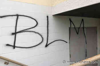 BLM graffiti appears on Brentwood Bay Community Hall – Victoria News - Victoria News