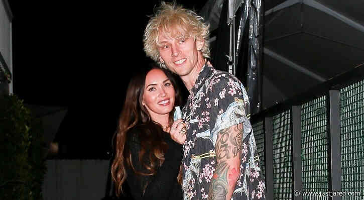 Megan Fox Keeps Close to Boyfriend Machine Gun Kelly During a Friday Night Date