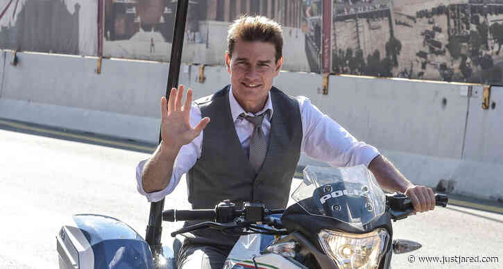 Tom Cruise Rides a Police Bike in Rome for 'Mission: Impossible 7'