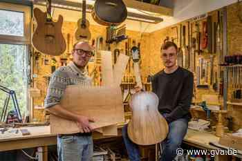 """Gekapte bomen van Antwerpse Leien worden nu ook gitaren: """"De liefhebbers azen erop"""" - Gazet van Antwerpen"""