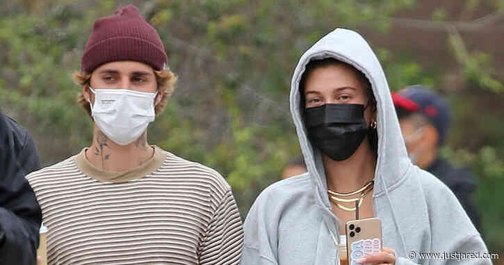 Justin & Hailey Bieber Head Out on Lunch Date in Santa Barbara
