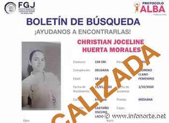 Localizan a salvo a Joceline; estudiante de Ciudad Mante — InfoNorte.net - InfoNorte.net