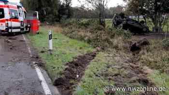 Moormerland: Auto überschlägt sich bei Unfall - Fahrer und Beifahrer unverletzt - Nordwest-Zeitung