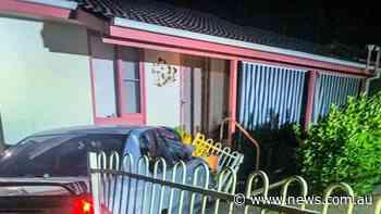 Unlicensed driver allegedly crashed unregistered car into house - NEWS.com.au