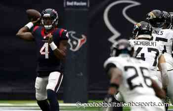 Texans get first win, beating Jaguars 30-14 after coaching change