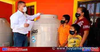 Tamaulipas SEBIEN Entrega ms de 50 tinacos subsidiados en Tula - Hoy Tamaulipas