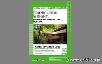 Conférence : »Franck Llyod Wright, pionnier de l'architecture moderne » mardi 3 novembre 2020 - Unidivers
