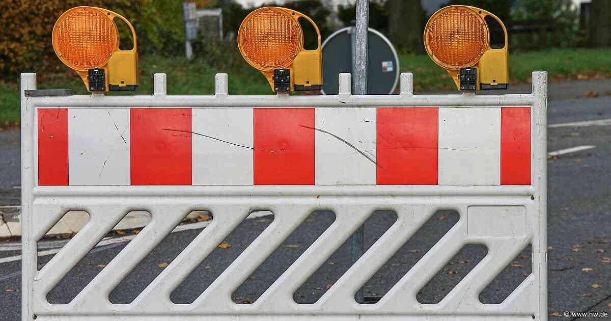 Straßensperrungen in Herford und Hiddenhausen - Neue Westfälische