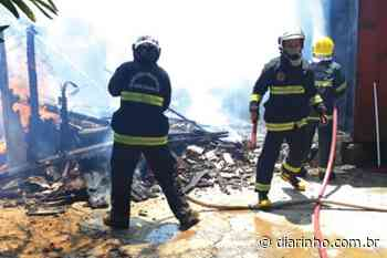 Incêndio destrói casa no bairro Itajuba - DIARINHO