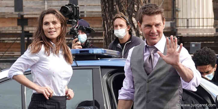 Tom Cruise Runs Over Cars While Filming A Shoot Out Scene With Hayley Atwell For 'Mission Impossible 7'