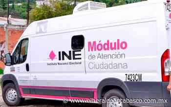 Suspenden modulo móvil del INE en Emiliano Zapata - El Heraldo de Tabasco