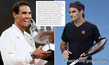 Roger Federer sends classy Rafael Nadal message as French Open win ties Grand Slam record