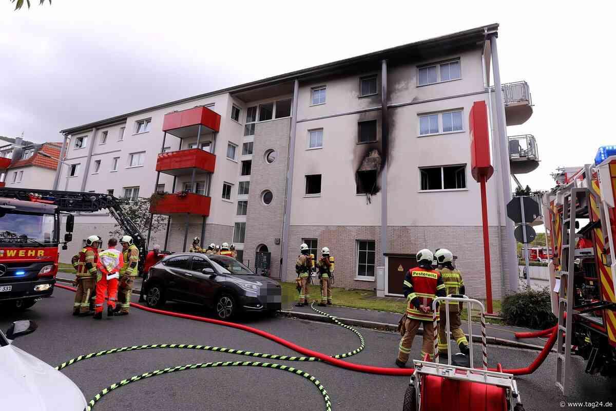 Wohnungsbrand in Freital: Mutter und Kind im Krankenhaus - TAG24