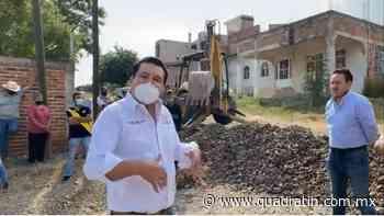 Inician obras de drenaje y alcantarillado en Jiquilpan - Quadratín - Quadratín Michoacán