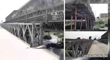 Áncash: inician reemplazo de puente Bailey en Coishco - LaRepública.pe
