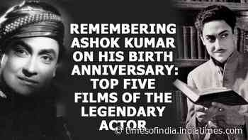 Remembering Ashok Kumar on his birth anniversary: Top five films of the legendary actor