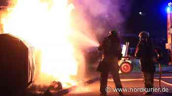 Containerbrand in Wolgast - Nordkurier