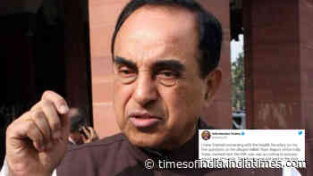 Subramanian Swamy talks to Health Secretary over 'alleged AIIMS team report' in Sushant Singh Rajput death case