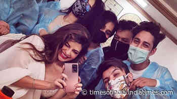 Jacqueline Fernandez resumes work, shares picture with crew