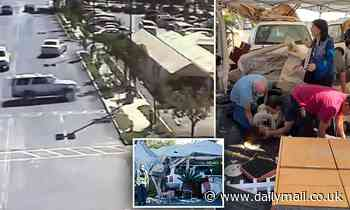 Horrific moment an SUV plows into an outdoor dining area in the parking lot of a San Jose mall