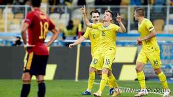 Ukraine pull off shock upset of Spain in Kiev