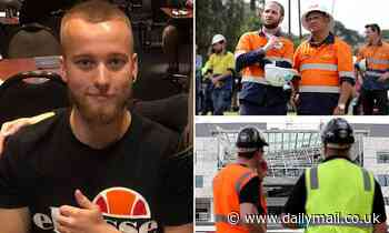 PICTURED: Tradie who died instantly after plunging 20 metres to his death at Perth university