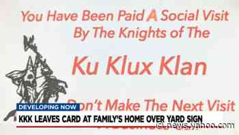 Residents on edge after KKK cards appear in yards with Biden signs in Tennessee