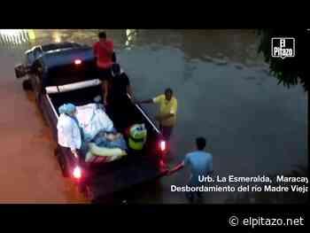 VIDEOS | Fuertes lluvias causan otro desbordamiento de ríos en Turmero y El Limón - El Pitazo