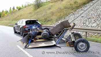 Autofahrer hat Niesanfall: Frontalzusammenstoß auf der B4 | Sondershausen - Thüringer Allgemeine
