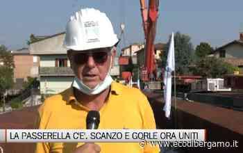 Posata la passerella ciclopedonale fra Gorle e Scanzo - L'Eco di Bergamo