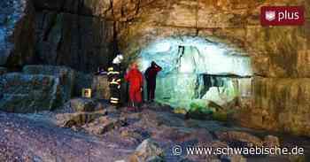 Großeinsatz an Falkensteiner Höhle: Drei Personen vermisst - Schwäbische