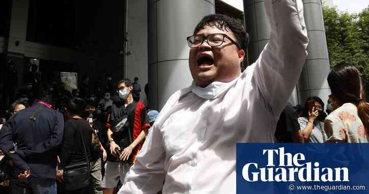 On the ground with Penguin, the Thai protest leader risking jail – video
